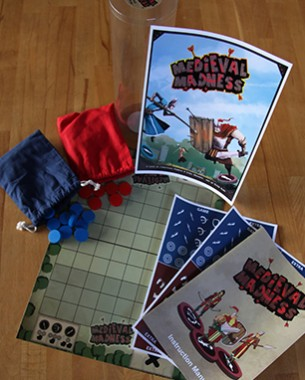 Medieval Madness is a real-time strategy board game for two players where strategy and speed are equally important. The game is set in Medieval Times and it tells the story of two kings who fight out their age-old conflict in a final battle.