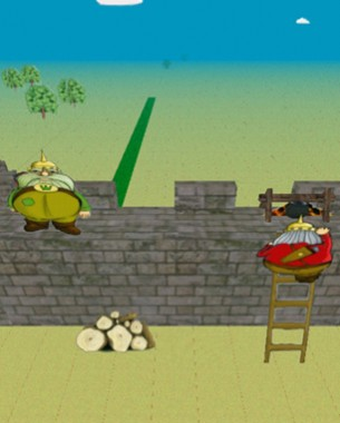 Its a co-op only tower defence game, in which hordes of enemies run at the castle wall and the players need to keep them away. The players have a range of weapons, most work on all enemies, but some enemies can only be killed with a specific type of weapon. Some weapons need team work to use them. Most weapons get there ammo from downstairs, over a narrow stairs that allows only 1 player at a time. Enough gameplay elements to make this game frantic, and we have seen some teams shine when they had clear communication.